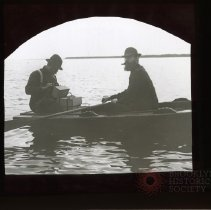 Image of [Two men in a rowboat] - Adrian Vanderveer Martense collection