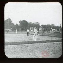 Image of [Men playing tennis] - Adrian Vanderveer Martense collection