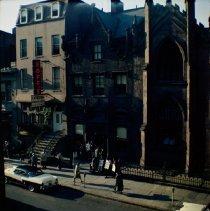 Image of [Monday evening from window at #156 Montague Street.] - John D. Morrell photographs