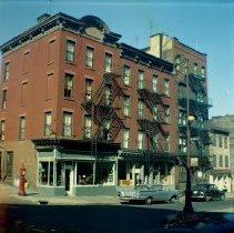 Image of [Northwest corner of Hicks Street.] - John D. Morrell photographs