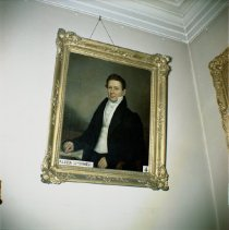 Image of [Painting of Alden Spooner at Long Island Historical Society.] - John D. Morrell photographs