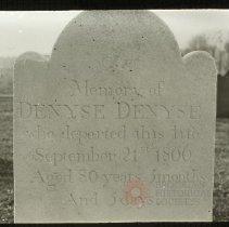 Image of Gravestone of Denyse Denyse, [Old] New Utrecht [Cemetery] - Ralph Irving Lloyd lantern slides