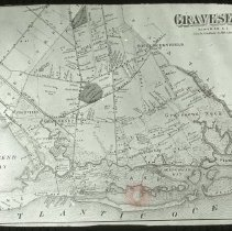 Image of Map of the town of Gravesend - Ralph Irving Lloyd lantern slides