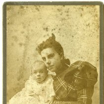 Image of [Portrait of woman and baby] - Burton family papers and photographs