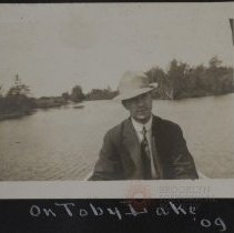 Image of On Toby lake 09' - Burton family papers and photographs