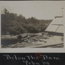 Image of Below the dam Toby 09' - Burton family papers and photographs