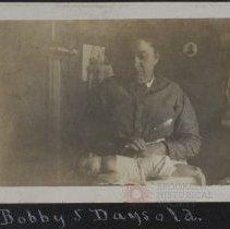 Image of Bobby 5 days old - Burton family papers and photographs