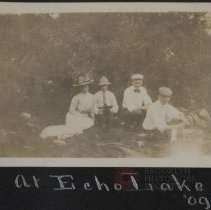 Image of At Echo lake 09' - Burton family papers and photographs