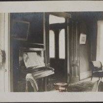 Image of [Interior view with a piano] - Burton family papers and photographs