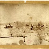Image of [Snow scene in Tenafly, N.J.] - Burton family papers and photographs