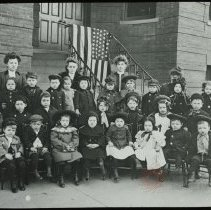 Image of [Group Portrait of Kindergarten Class] - Emmanuel House lantern slide collection