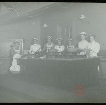 Image of [Group Portrait of Women in Cooking Class] - Emmanuel House lantern slide collection
