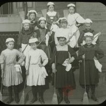 Image of Kitchen Maids - Emmanuel House lantern slide collection