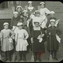 Image of Kitchen Maids - Emmanuel House lantern slide collection