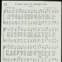 Image of It Came Upon the Midnight Clear [sheet music] - Emmanuel House lantern slide collection