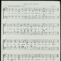 Image of Oh Little Town of Bethlehem [sheet music] - Emmanuel House lantern slide collection
