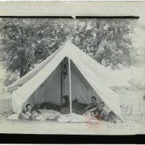 Image of [Camping Boys] - Emmanuel House lantern slide collection