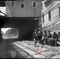 Image of [Subway work crew] - William Koch glass plate negatives
