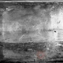 Image of [Two boats off beach] - William Koch glass plate negatives