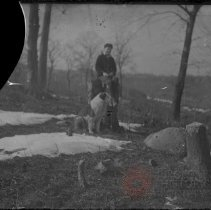 Image of [Boy with dog] - William Koch glass plate negatives