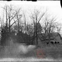 Image of [House and barns in trees] - William Koch glass plate negatives