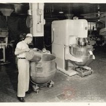 Image of [Industrial Mixing Equipment Inside Drake Bakeries Building] - Drake Bakeries photographs