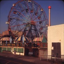 Image of Coney Island, Ferris Wheel - Otto Dreschmeyer Brooklyn slides