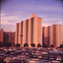 Image of [Apartment buildings], Coney Island - Otto Dreschmeyer Brooklyn slides