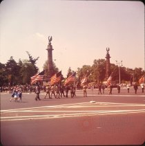 Image of Memorial Day [parade] at [Grand Army] Plaza - Otto Dreschmeyer Brooklyn slides