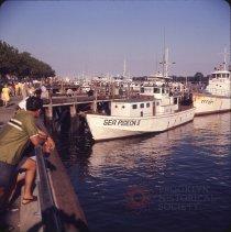 Image of Sheepshead Boats, [Sea Pigeon III and Effort] - Otto Dreschmeyer Brooklyn slides