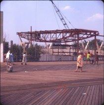 Image of Coney Island [boardwalk and construction] - Otto Dreschmeyer Brooklyn slides