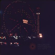 Image of [The Wonder Wheel at night] Coney Island - Otto Dreschmeyer Brooklyn slides