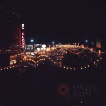 Image of [Surf Avenue at night], Coney Island - Otto Dreschmeyer Brooklyn slides