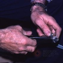 Image of [Electrician at work] - Frank J. Trezza Seatrain Shipbuilding collection