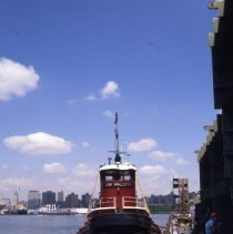 Image of [Tugboat at pier J] - Frank J. Trezza Seatrain Shipbuilding collection