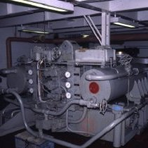 Image of [Steering room and equipment] - Frank J. Trezza Seatrain Shipbuilding collection