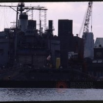Image of [Navy ship in dry dock] - Frank J. Trezza Seatrain Shipbuilding collection