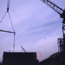Image of [Ro-Ro container ships being built] - Frank J. Trezza Seatrain Shipbuilding collection