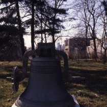 Image of [Bell in front of Navy hospital] - Frank J. Trezza Seatrain Shipbuilding collection