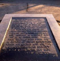 Image of [Plaque in Fort Greene Park] - Frank J. Trezza Seatrain Shipbuilding collection