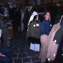 Image of [Inside Reliable and Frank's, two customers] - Frank J. Trezza Seatrain Shipbuilding collection