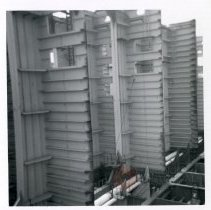 Image of [Backside of bulkhead tanks] - Frank J. Trezza Seatrain Shipbuilding collection