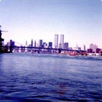 Image of [Skyline view of Manhattan from Seatrain] - Frank J. Trezza Seatrain Shipbuilding collection