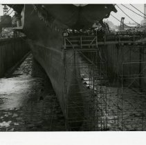 Image of [Air craft carrier, Franklin D. Roosevelt] - Frank J. Trezza Seatrain Shipbuilding collection