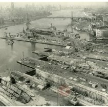 Image of [Aerial view of Brooklyn Navy Yard] - Anthony Costanzo Brooklyn Navy Yard collection
