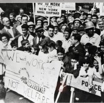 Image of [Demonstrations at Brooklyn Navy Yard] - Anthony Costanzo Brooklyn Navy Yard collection