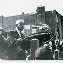 Image of [Speech at the Brooklyn Navy Yard] - Anthony Costanzo Brooklyn Navy Yard collection
