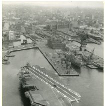 Image of [Aerial view of Brooklyn Navy Yard and Naval station] - Anthony Costanzo Brooklyn Navy Yard collection