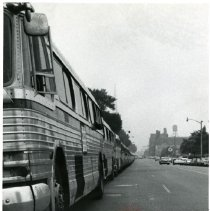 Image of [Parked buses] - Anthony Costanzo Brooklyn Navy Yard collection