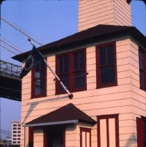 Image of [Newly renovated Fulton Ferry Fireboat House] - DUMBO, Brooklyn waterfront photographs and slides